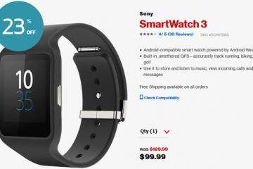 Deal: Sony SmartWatch 3 for $99.99