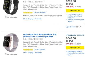 Apple Watch: $100 Off on Best Buy
