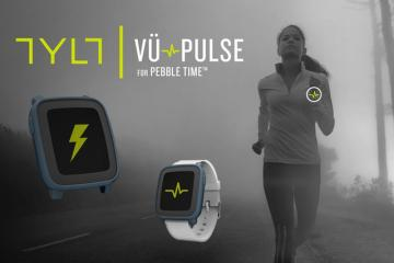 TYLT VU Pulse: Heart Rate Monitor + Wireless Charger for Pebble Time