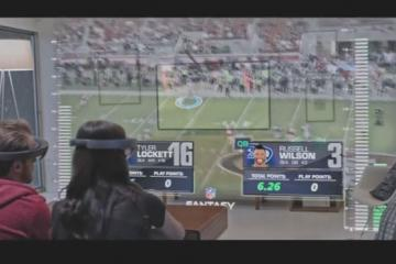 Microsoft HoloLens + Mixed Reality for NFL Fans