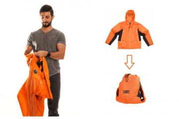 RuckJack: Jacket Converts Into a Backpack