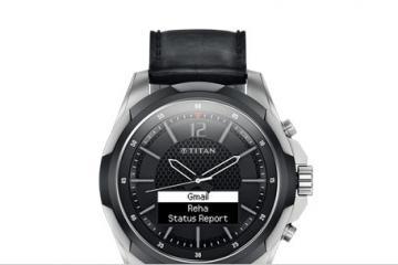 Titan JUXT Titanium / Stainless Smartwatch by HP
