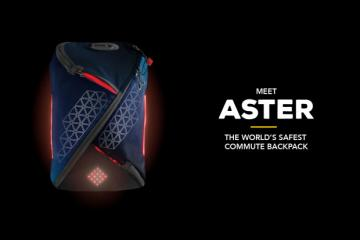 Aster Commute Backpack with Turn Signals, Brake Indication