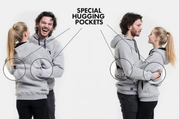 TogetherWear: Hugging Hoodies with Back Pockets