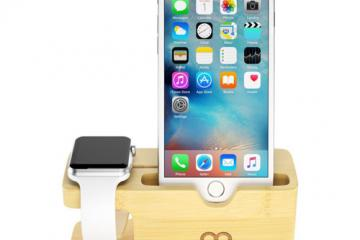 Maxboost Bamboo iPhone / Apple Watch Stand