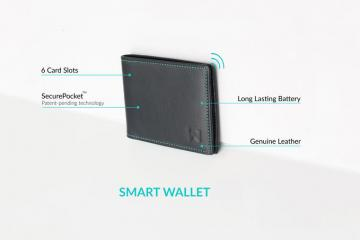 Walli Smart Wallet with Timer, Bluetooth, Smart Features