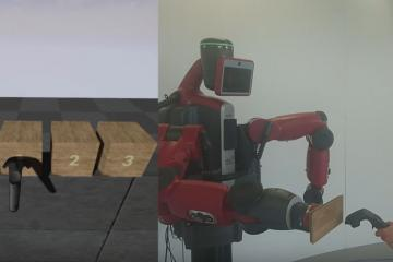 HapticVive: HTC Vive and Baxter Robot for VR Force Feedback