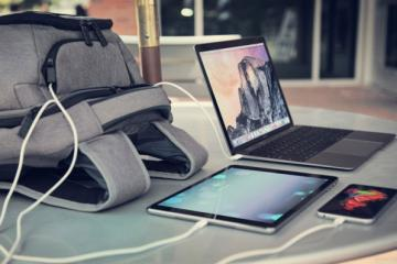 TYLT Energi Pro Power Backpack Charges Laptops, Tablets