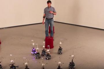 Select Robots from a Group Using Myo & Voice Commands