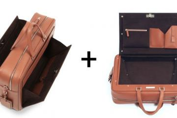 WINGCASE Smart 2-in-1 Briefcase & Overnight Bag