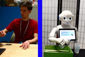 Controlling Pepper Robot with Leap Motion
