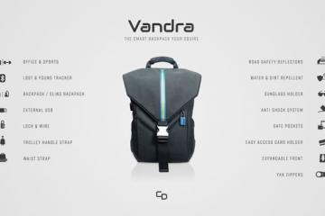 Vandra Smart Backpack with 15 Features