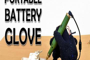 DIY: Portable Battery Pack Glove for Makers