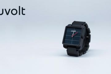 Uvolt Solar Watch Is a Smartphone Charger Too