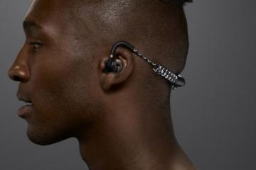 Stadion Wireless Bluetooth Headset with Stretchy Coils for Active People