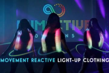 Lumactive Suspenders: Motion Reactive Light Up Clothing