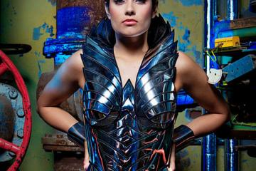 Chrome Sci Fi Robot Cosplay Corset