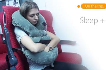 Sleep+ Warm, Safe Travel Pillow