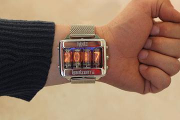 Nixie Tube Wristwatch