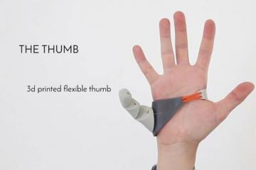 Third Thumb: 3D Printed Extra Thumb Controlled by Your Feet
