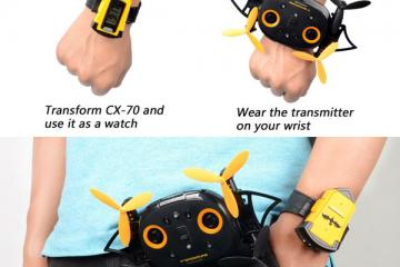 Cheerson BatDrone CX-70 Transforms Into a Watch