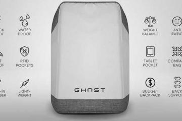 Ghost Cutproof Backpack with Tracker, Charger