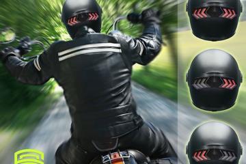 SmartRider Brake & Turn Signal Light for Helmets