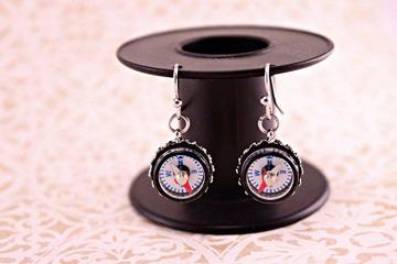 Mini Compass Earrings