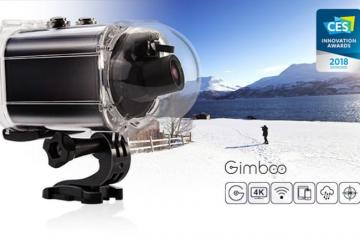 GimbalCam 4K Action Cam with Stabilization