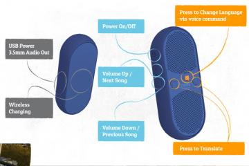 Travis Blue Translator: Bluetooth Speaker That Translates 60 Languages
