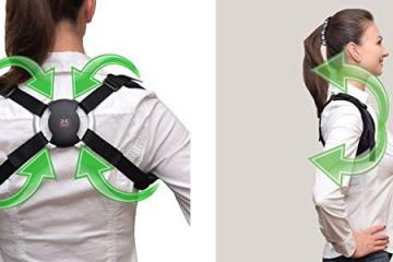 Smart Back Brace with Bluetooth Corrects Bad Posture