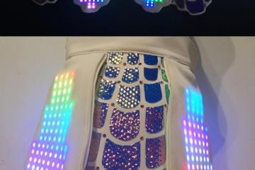 LED Chroma Skirt / Rave Outfit