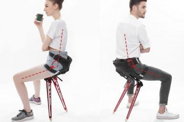 LEX Folding Exoskeleton That Turns Into a Chair