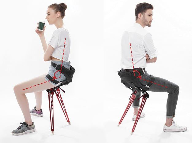 Lex Folding Exoskeleton That Turns Into A Chair Cool