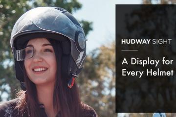 HUDWAY Sight: HUD for Every Helmet