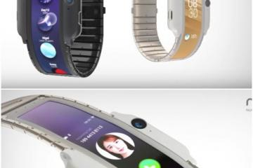 nubia-α Flexible Wearable Smartphone