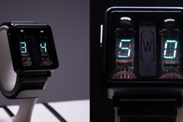 Nixie Tube Watch with Accelerometer