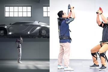 Hyundai Motor Group's Wearable Vest Exoskeleton Makes Overhead Work Easy