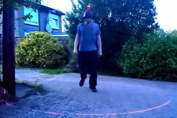 Social Distancing Laser Hat