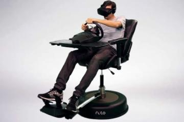Roto VR Chair with Haptic Feedback, Head Tracking