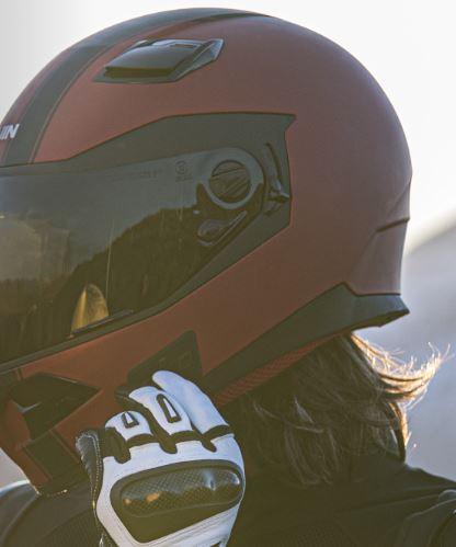Quin Spitfire Rosso Bluetooth Helmet with Crash Detection