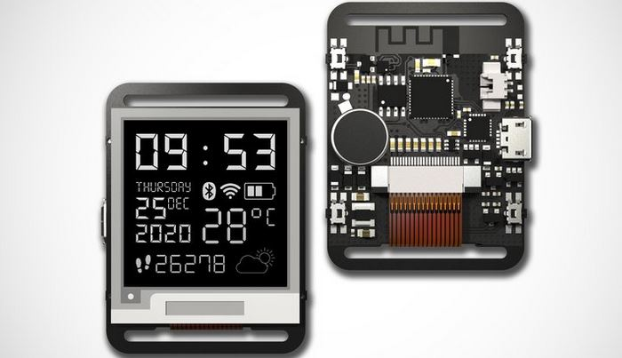 Watchy: Open Source E-ink Watch with WiFi & Bluetooth