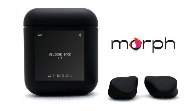 Morph InfiniConnect Bluetooth 5.2 Earbuds with OLED Touch Case