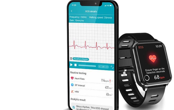 VEEPOO WATCH RIG Smartwatch Monitors EKG/ECG, SpO2, HRM