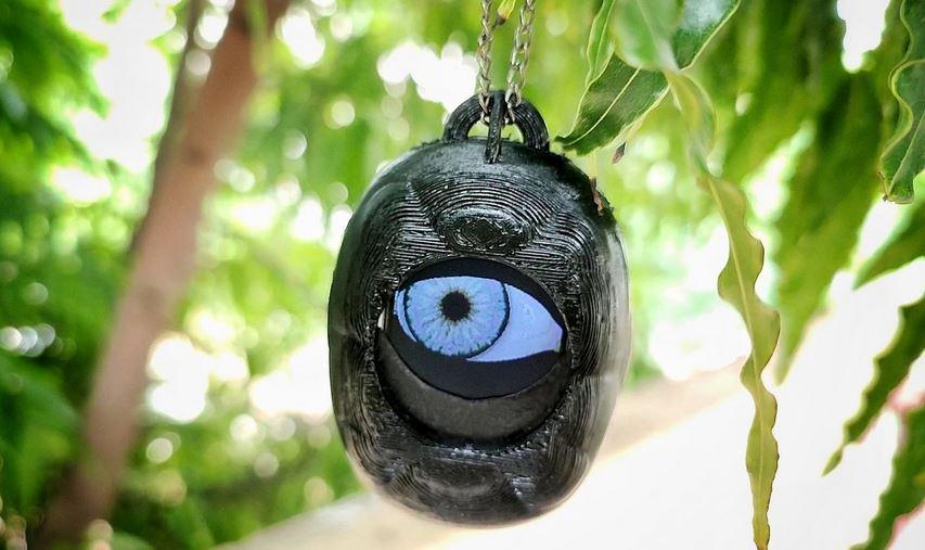 Uncanny Eye Pendant for Halloween